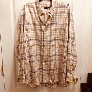 Burberry men button down shirt XXL